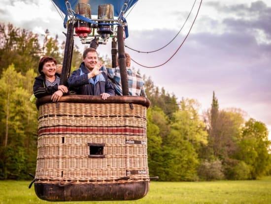 Private hot air balloon ride in Prague
