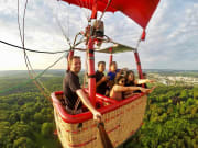 Hot air balloon flight in Prague
