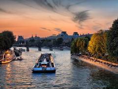 Seine River illuminated cruise