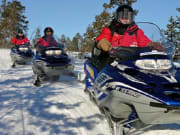 Snowmobile to Ice Fishing