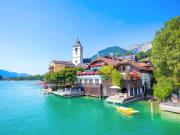 Austria_Wolfgangsee_Lake_Wolfgang_Chapel