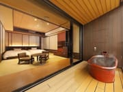 Hakone Kowakien Ten-yu room with open-air bath