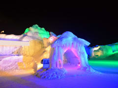 Entrance to an ice cave installation in Sapporo