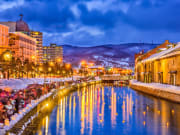 Otaru Canal Town in winter