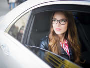 woman inside private car