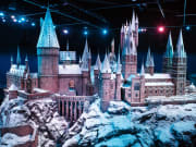 Hogwarts castle model in the snow