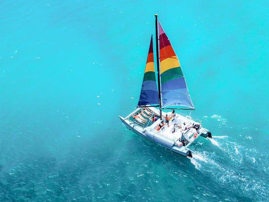 Mana Kai Catamaran Rainbow Sail - Waikiki Snorkel with Turtles Morning  CruiseSALE Instant Confirmation
