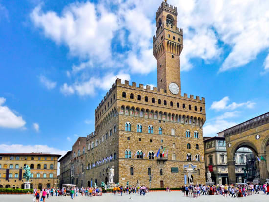 Italy, Florence, Town hall, clock tower