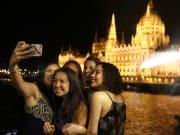 friends, Budapest, Hungary, selfie