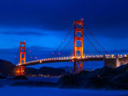 USA, San Francisco, night, golden gate bridge