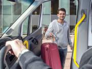 Man boarding car transfer Airport
