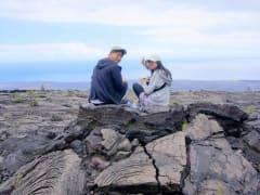 #4溶岩台地/お弁当の昼食(ザ・朝火山ツアー/マイカイオハナツアー)