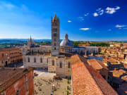 Bird's eye view of Siena Cathedral