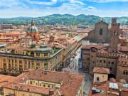 The elegant arcades of Bologna
