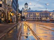 Finland, Helsinki, night