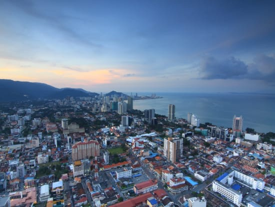 view of george town penang from the komtar tower