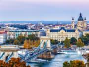 Panoramic view of Danube river
