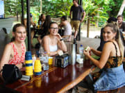 group of women having snacks
