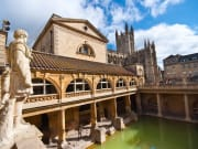 UK_England_Bath_Roman Baths_statue