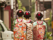 Kyoto maiko split-peach wareshinobu hair style