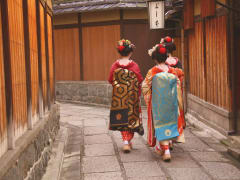Maiko walking in Gion Kyoto
