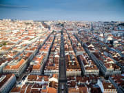 Chiado Neighborhood lisbon aerial view