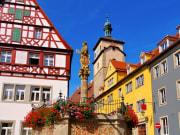 Rothenburg, Germany, timbered houses, Seelhouse