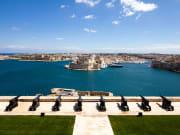 Malta Valletta Saluting Battery hop on hop off bus