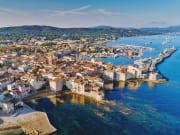 Aerial view of Saint Tropez