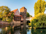 Nuremberg, Pegnitz river, Old town, Germany