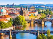 Prague Charles Bridge Vltava River