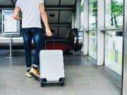suitcase, travel, man