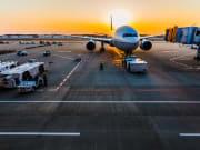 airport, travel, airplane
