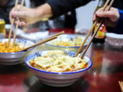 noodle dishes chengdu food tour by tuk tuk