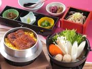 Japanese food unadon and nabe
