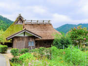 Miyama Kayabuki Village traditional thatched roof