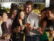 friends drinking together sydney harbour