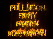 haad rin full moon party signage using fire