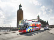 stockholm city hall city sightseeing red bus