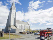 Hallgrímskirkja church hop on hop off bus tour