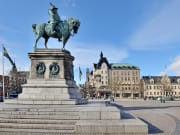 Sweden, Malmo, Charles Gustav statue