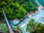 Taroko Gorge Park Hualien bridge over river