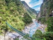 Taroko Gorge Park bridge connecting mountains