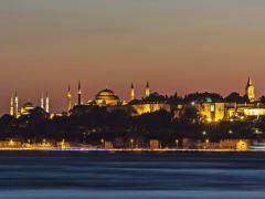 Istanbul Night Silhouette