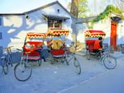 tuk tuk drivers resting hutong beijing china