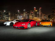 Supercars in singapore at night