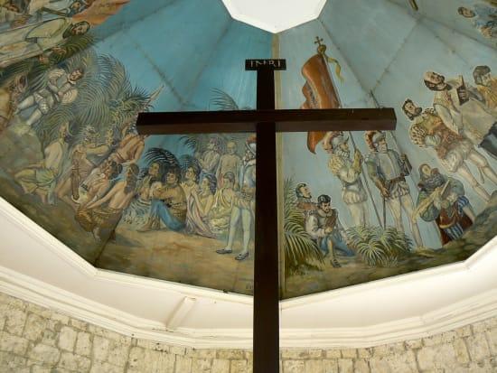 Cebu Magellan's Cross viewed from below
