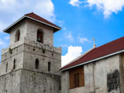 bohol baclayon church against blue sky