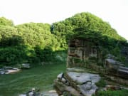Goseokjeong flowing river and green trees
