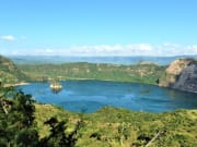 lake inside taal volcano's crater philippines
